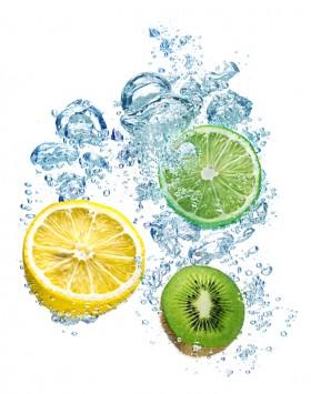 vitamina C y agua