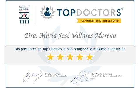 Diploma de Excelencia TOP DOCTORS